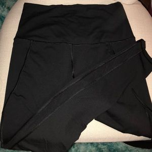 High waisted leggings with mesh paneling